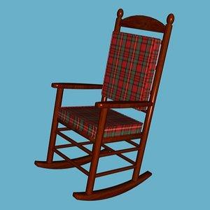 kennedy rocking chair 3d model