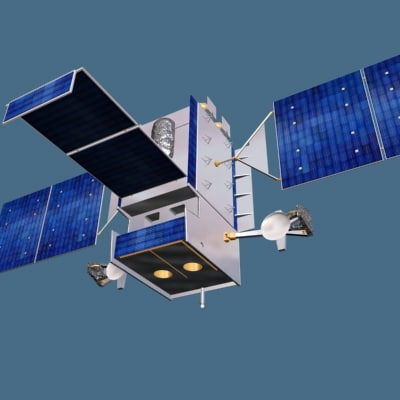 3d space-based sbirs satellite model
