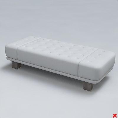 3d bench sofa model