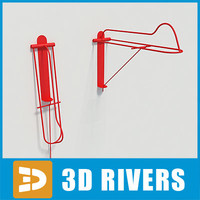 free saddle hanger barn 3d model