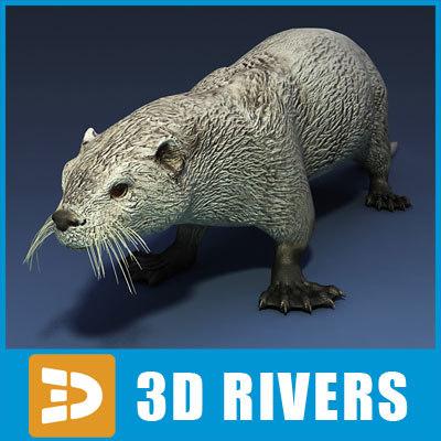 sea otter 3d obj