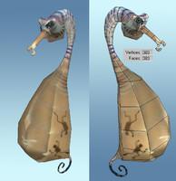 sea horse 3d max