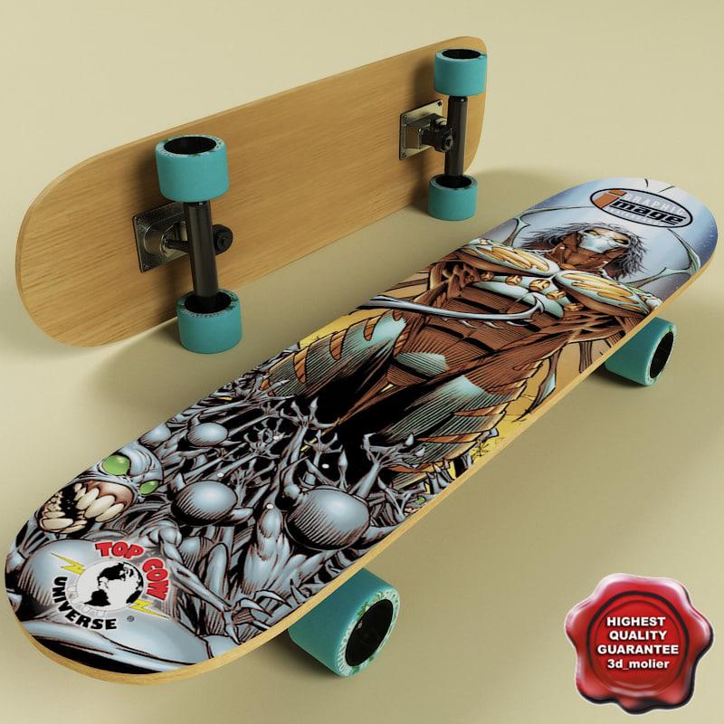 3d model skate board v3