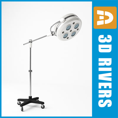 surgical light 3d model