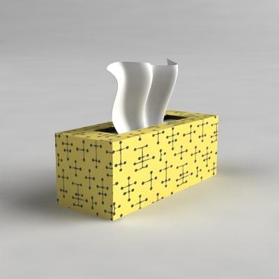 3d model box facial tissues