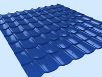 3d 3ds roof tile