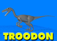 troodon dinosaur 3d model