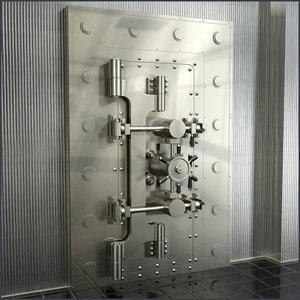 3d model vault door