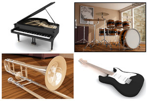 3ds max musical instruments coll vol 1