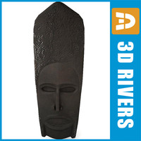 African mask 03 by 3DRivers