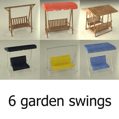 garden swings 3d model