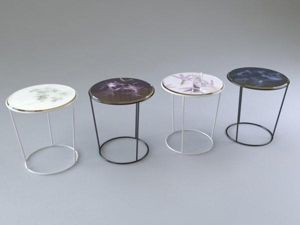 3d model moroso roses table