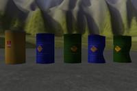 Metal Barrels + Damaged + Bonus (with 2 LOD)