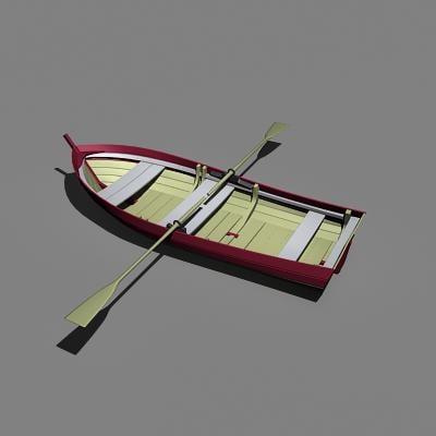 boat fishing dxf