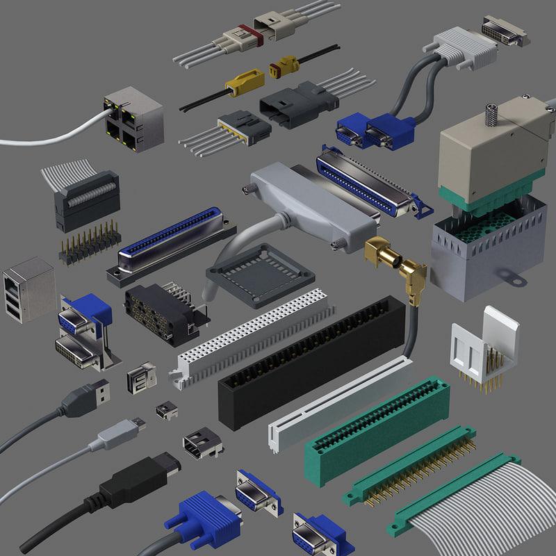 3d computer parts model