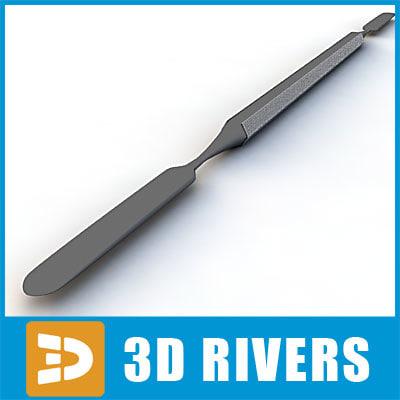 3d 3ds cement spatula 03