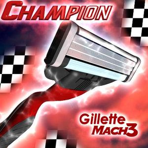 3ds max mach3 gillette champion