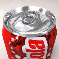 3d model cola soda light