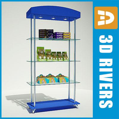 display shelf 3d model