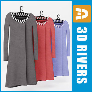 dress set 3d model