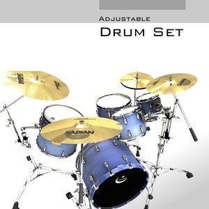 adjustable drum set 3d model