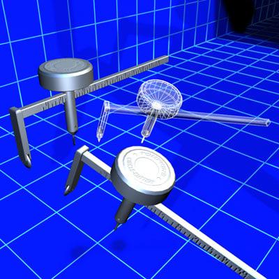 drywall circle cutter 01 3d model