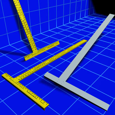 drywall t square 01 3d model