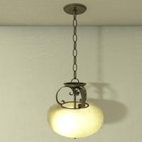 3d hanging lamp light fixtures model
