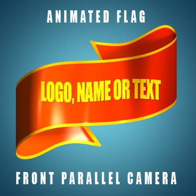 cinema4d flag animation