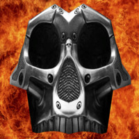 3d model iron death mask shield