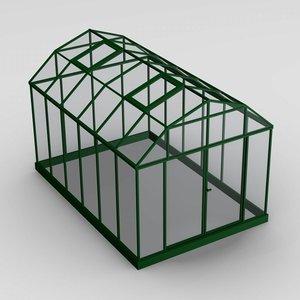 house green greenhouse 3d model