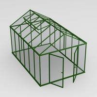 3d model house green greenhouse