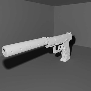 3d walther p99 pistol model