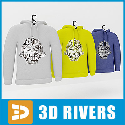 3d hoodie set clothes model