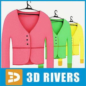 ladies jacket set 3d model