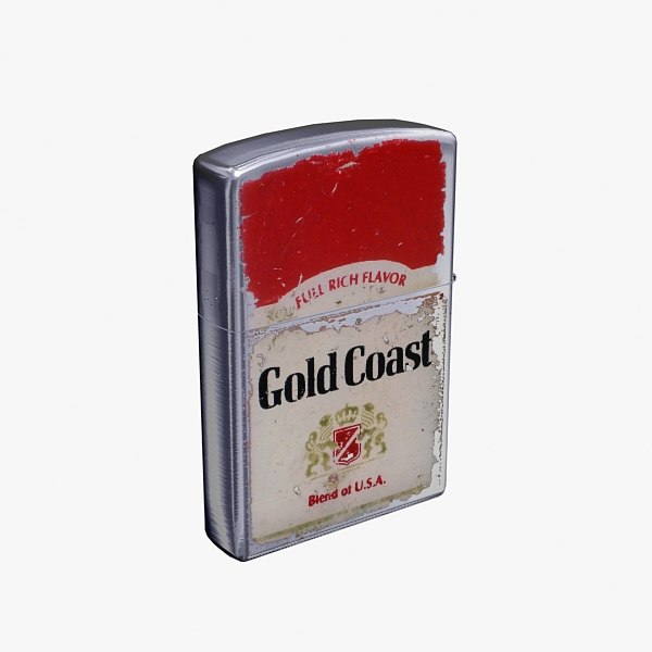 old lighter 3d model