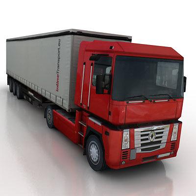 vehicle truck trailer 3d model