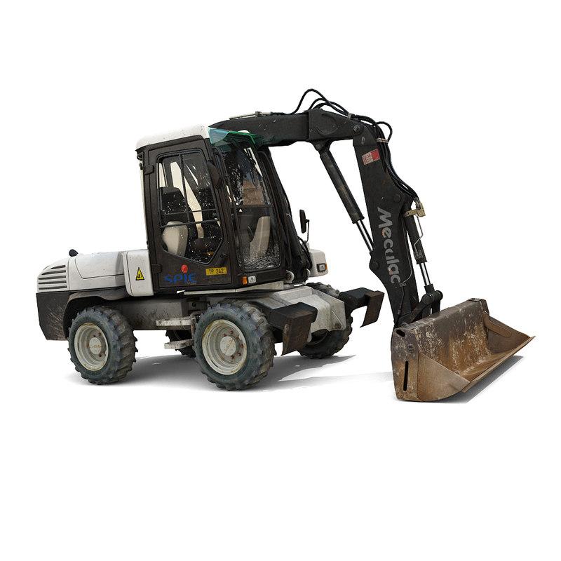 3ds max excavator