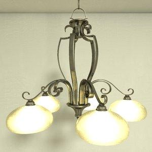 chandelier nook light fixtures 3ds