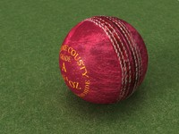 3d model used cricket leather ball