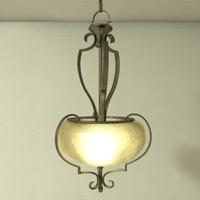 hanging light pendant lfc001 3d model