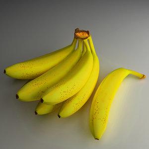 3d banana fruits model