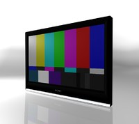 3d model tv plasma lcd