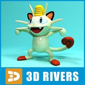 japanese pokemon toys 3d model