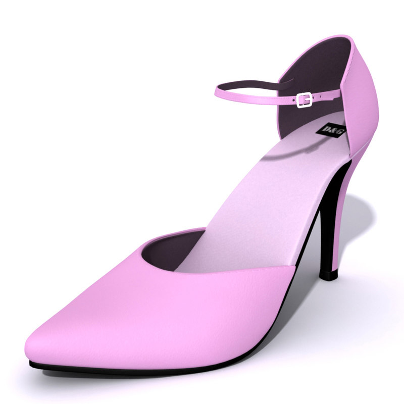 3ds max heel female shoes