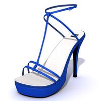 female sandals 3d model