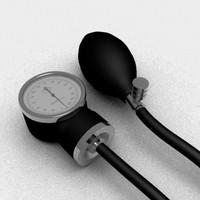 spygmomanometer blood pressure apparatus 3d 3ds
