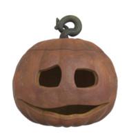 3d jack o halloween pumpkin