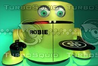 radio robie bank robotic obj