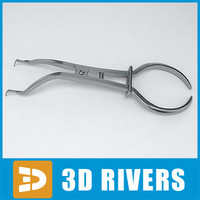 Rubber dam clamp forceps by 3DRivers